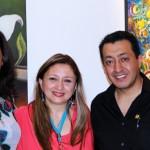 Artistas participantes en la muestra primavera en NY encabezados por Manena Escovil la directora del colectivo de artistas de Miami, Fl.