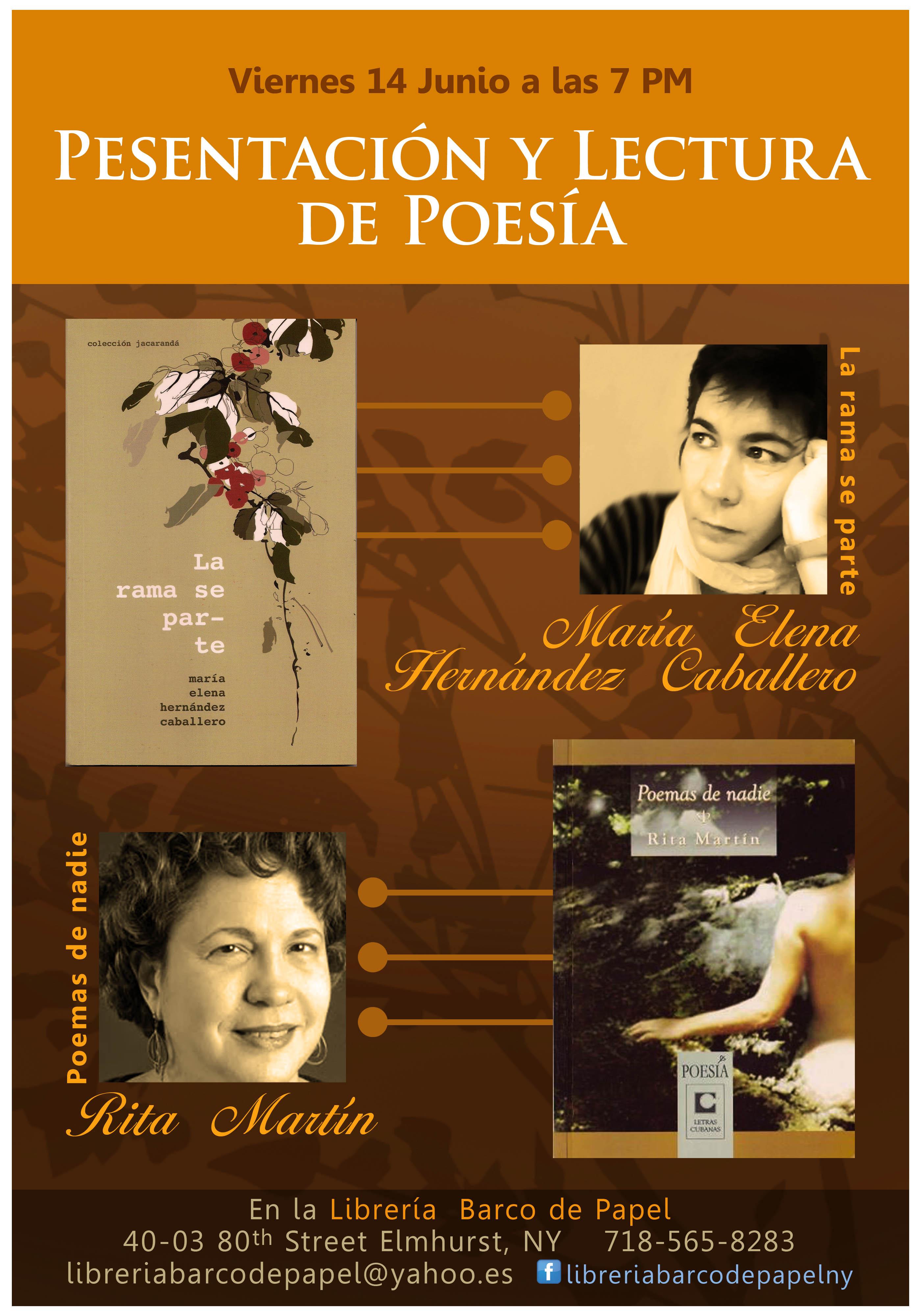 Recital de poesía en Barco de Papel