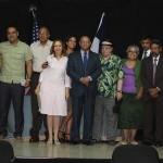 El Comisionado Dominicano de Cultura en los Estados Unidos realizó el acto de premiación del Concurso Literario Letras de Ultramar, ganado este año por los escritores dominicanos residentes fuera de la isla, Rubén Sánchez Féliz y Daniel Baruc Espinal Rivera.