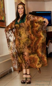 """Una combinación de texturas, tejidos y colores en el desfile de modas """"Mantas Guajiras"""" (Foto Blanca Irene Arbelaez)"""