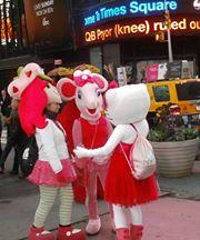 Amiguitas en Times Square
