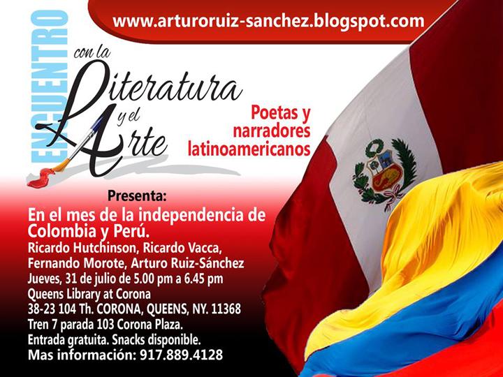 Encuentro literario en honor a Colombia y Perú