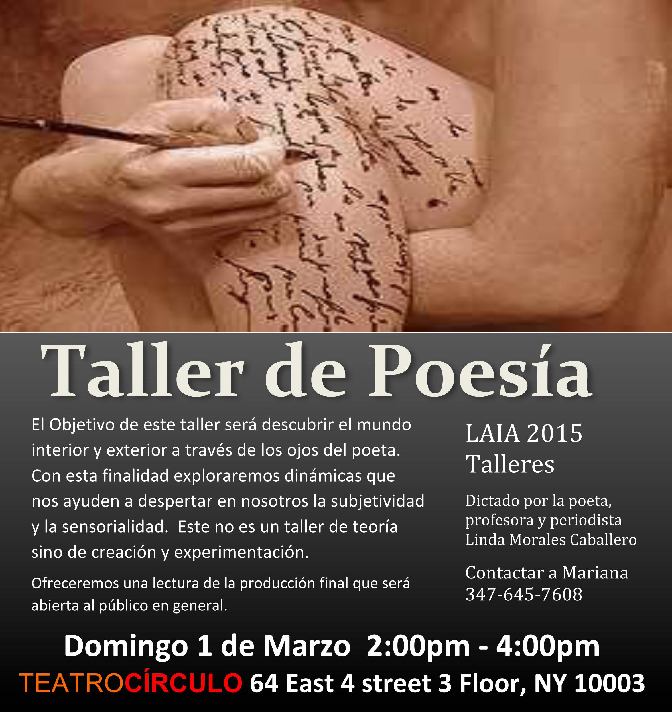 Taller de poesía de Linda Morales Caballero