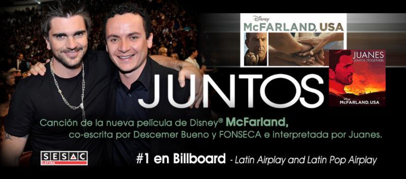 Juanes y Fonseca 'Juntos' #1 en Billboard